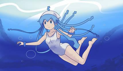 Swiming Squid Girl