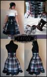 Punk Lolita High Waisted Skirt