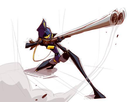 one eyed huntress