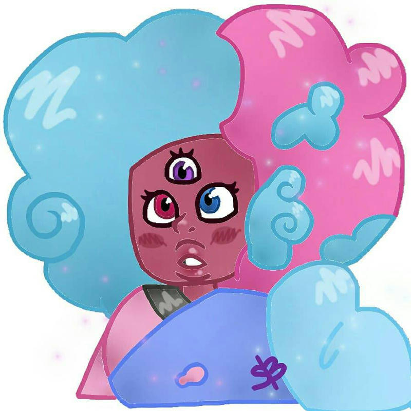 Have sum cute cotton candy Garnet!💜💙❤️