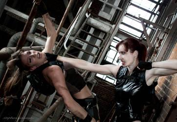 Lara vs. Doppelganger by JennCroft