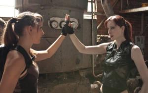 Lara vs. Doppelganger: Meeting by JennCroft