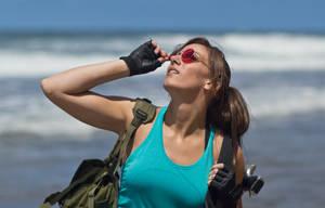 Lara Croft Tomb Raider: Beach 1 by JennCroft
