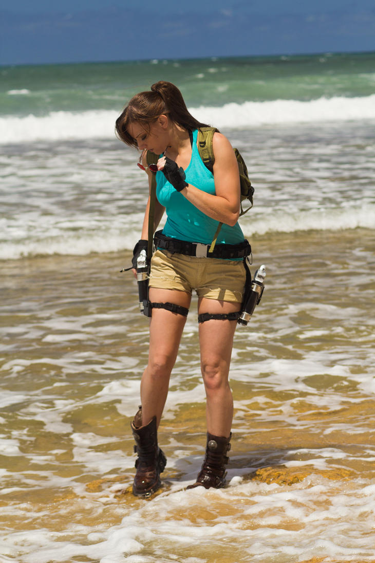 Lara Croft Tomb Raider: Beach 2 by JennCroft