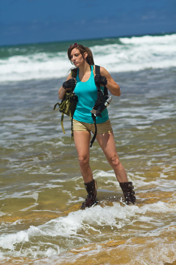 Lara Croft Tomb Raider: Beach 4 by JennCroft