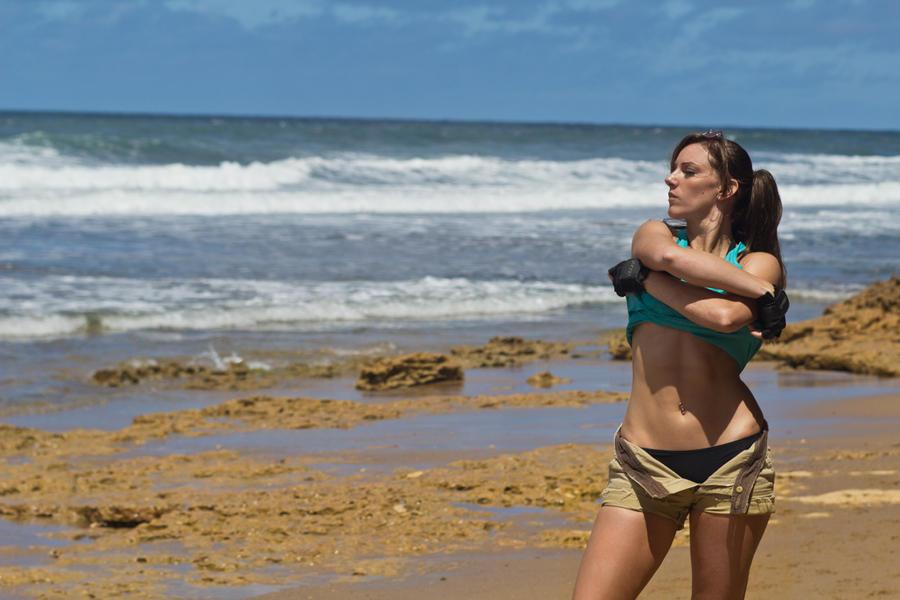 Lara Croft Tomb Raider: Beach 6 by JennCroft