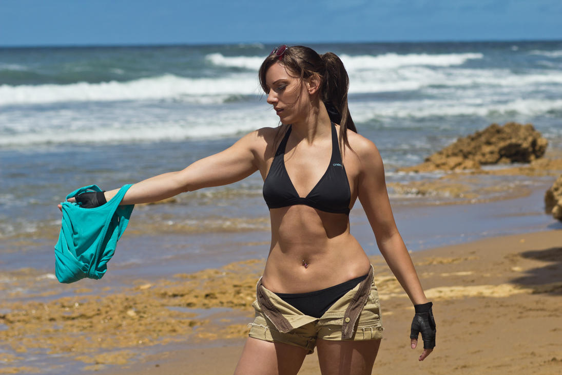 Lara Croft Tomb Raider: Beach 8 by JennCroft