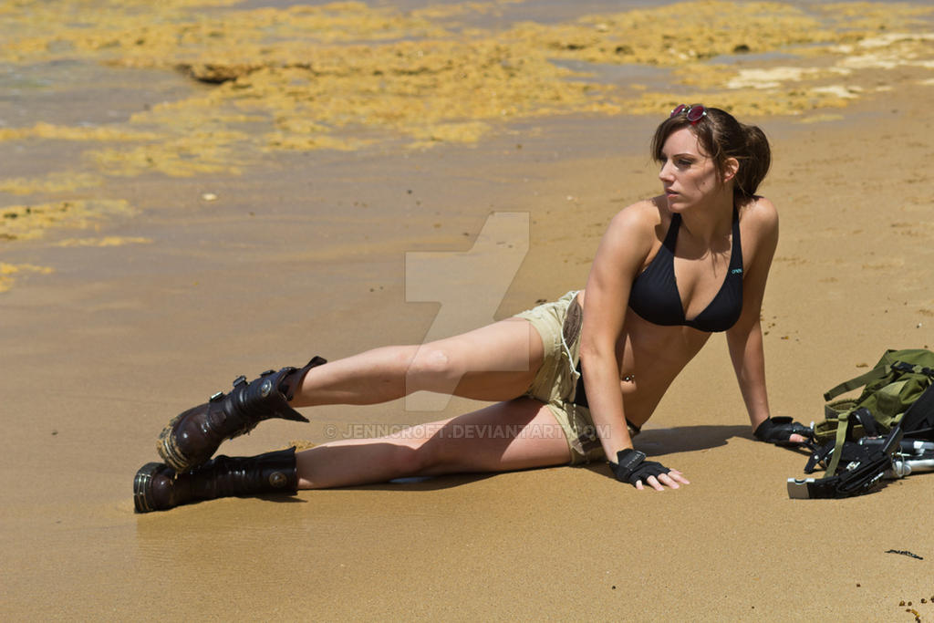 Lara Croft Tomb Raider: Beach 9 by JennCroft