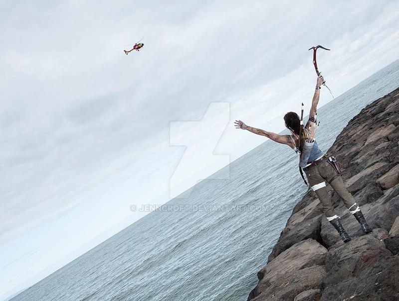 Lara Croft: No! Come back, Choppa! by JennCroft