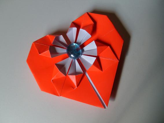 оригами схемы сердце