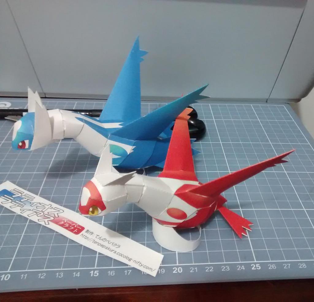 pokemon papercraft latias and latios by denissensei on