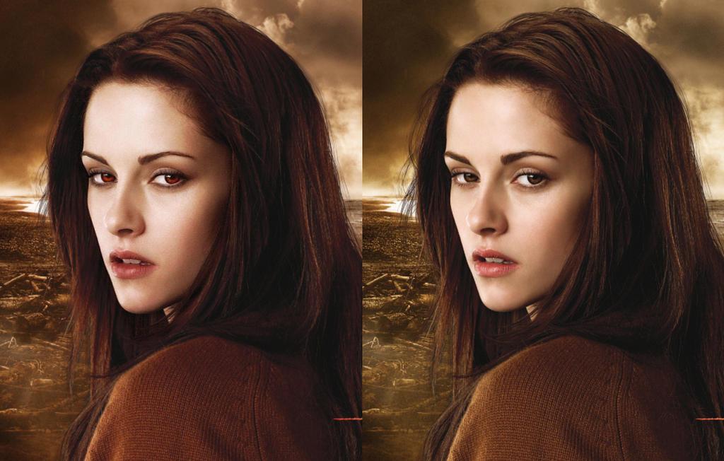 Bella (Kristen Stewart ) after + before by Kenjisan-23 on deviantART