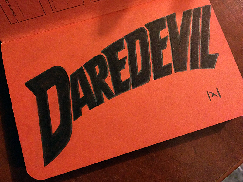 Free Hand Daredevil by DuskGuard