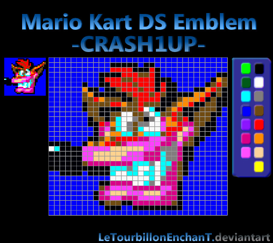 Mario Kart Ds Emblem Crash1up By Letourbillonenchant On