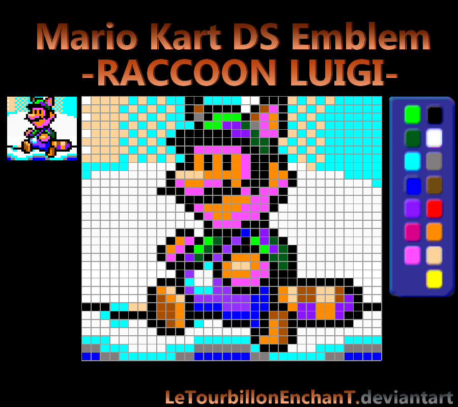 Mario Kart Ds Emblem Raccoon Luigi By