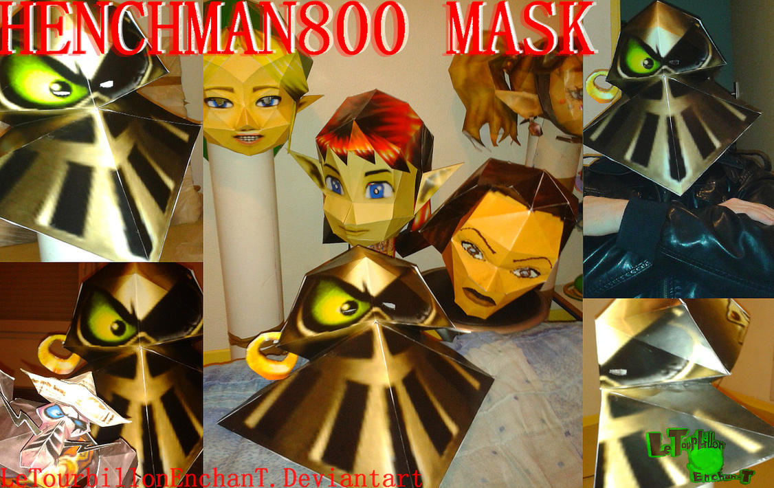Rayman M - Henchman 800 Mask - LTE-T Papercraft by LeTourbillonEnchanT