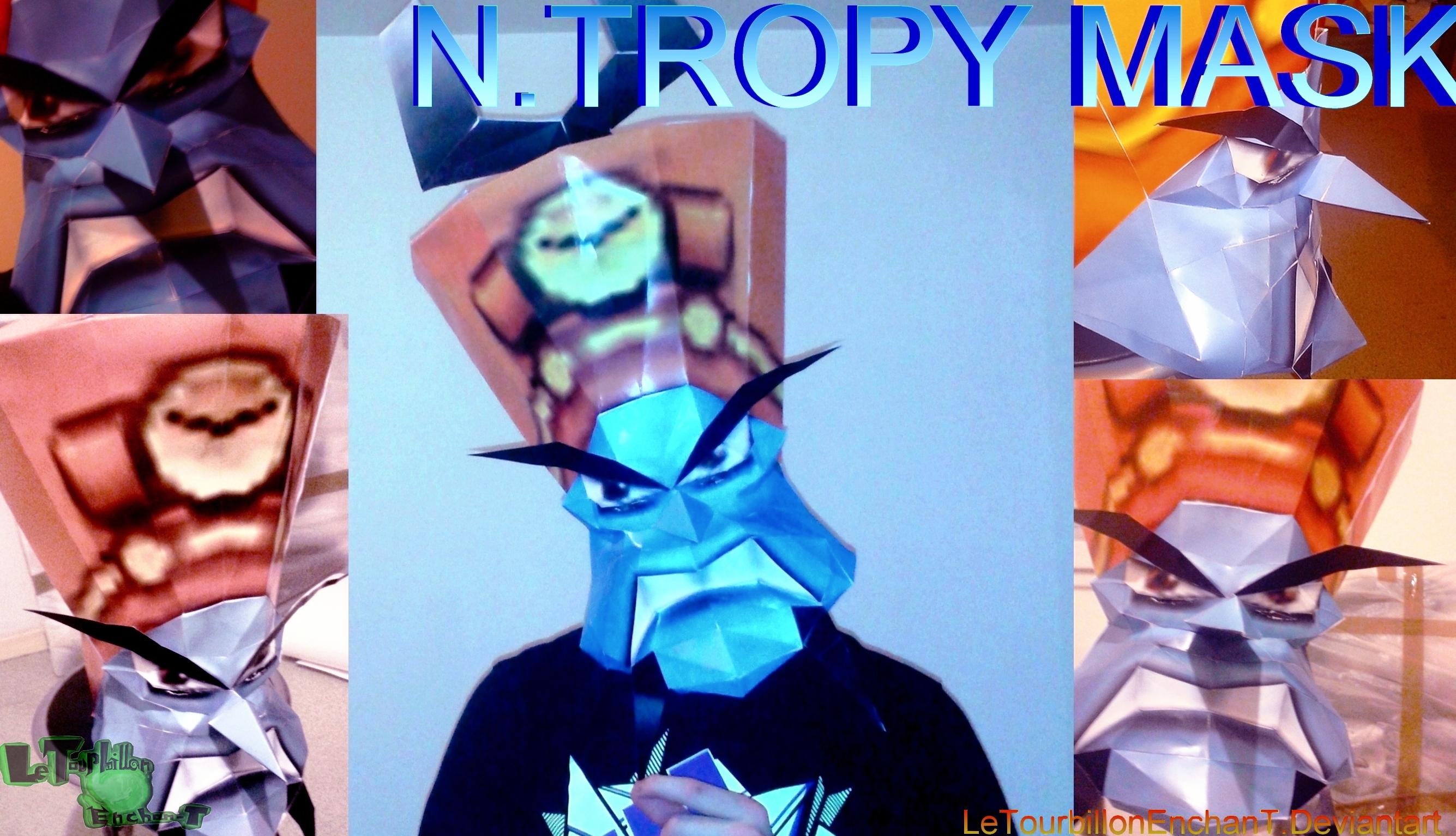 Crash Nitro Kart - N.Tropy Mask - LTE-T Papercraft by LeTourbillonEnchanT