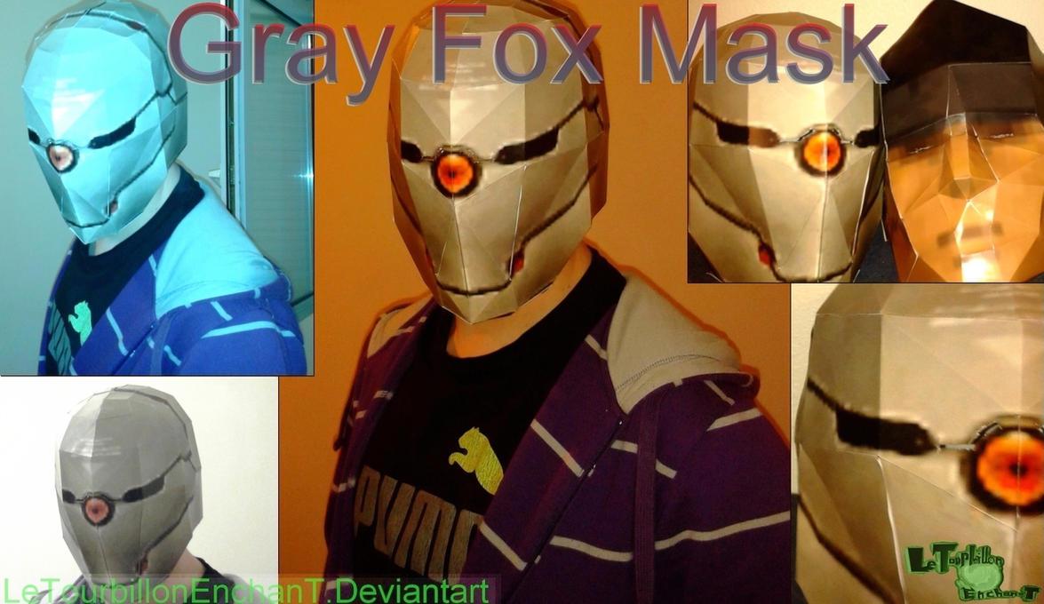 Metal Gear Solid - GrayFox Mask - LTE-T Papercraft by LeTourbillonEnchanT