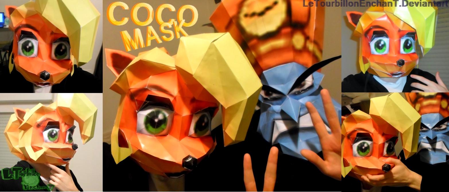 Crash Nitro Kart - Coco Mask - LTE-T Papercraft by LeTourbillonEnchanT