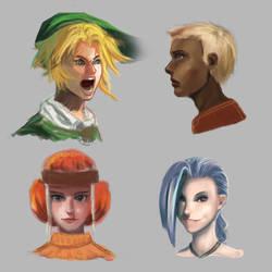 Head sketches 2 by ciliath
