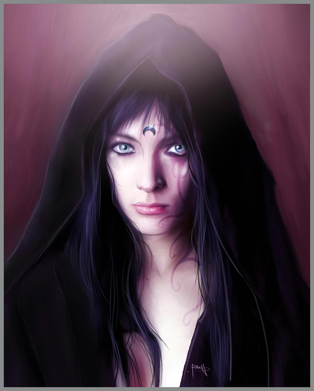 Night Elf Portrait. by gerky-art