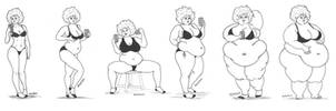 Charlotte Weight Gain Progression Pt.2 by berserker1133