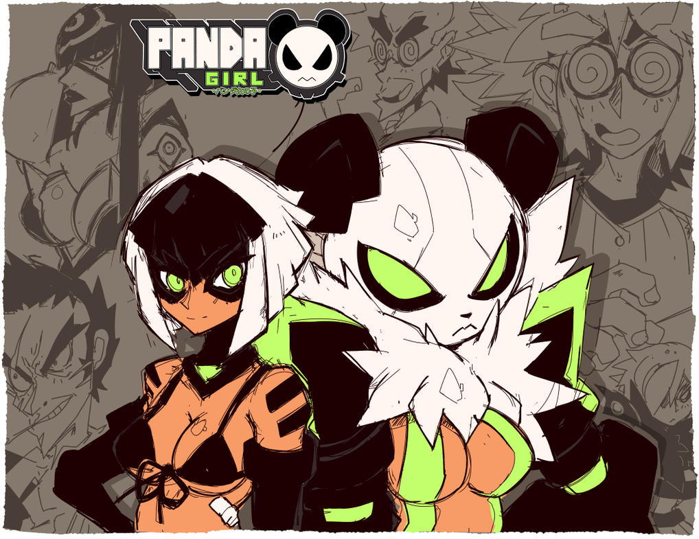 Panda Girl Sketches by endshark