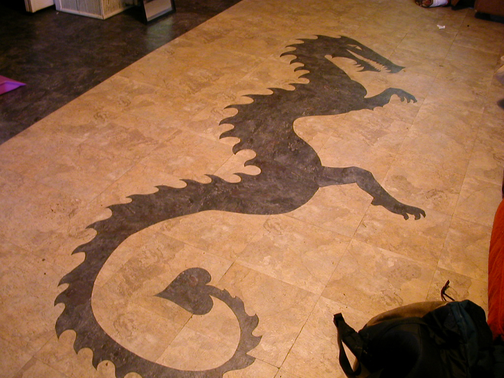Dragon tile inlay mosaic by corazondedios on deviantart dragon tile inlay mosaic by corazondedios dailygadgetfo Images