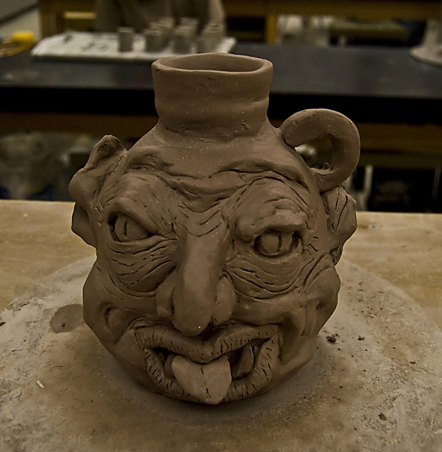MY HORRIBLE FACE JUG by CorazondeDios