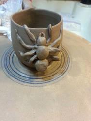 Spider Clay Mug 10 15 2014 by CorazondeDios