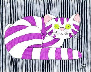 Purple Cheshire Cat by CorazondeDios