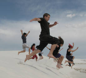 Us at White Sands