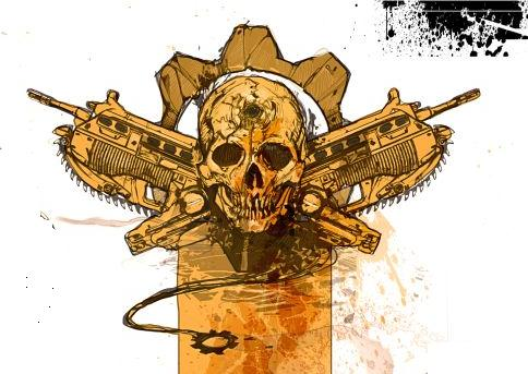 Gears of war emblem by karasunohikaru on deviantart for Gears of war logo tattoo