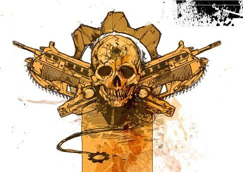 Gears of War Emblem by karasunohikaru