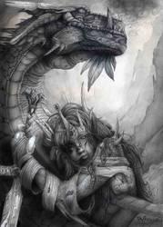 Dama dragon by Ilustralia