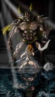 Woman VS Devil by Ilustralia