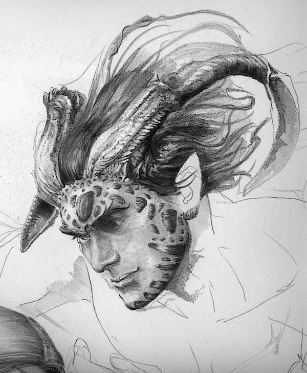 ..Boceto Demonio.. by Ilustralia