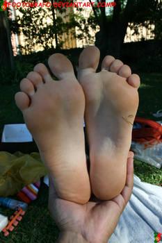 Teen amateur feet
