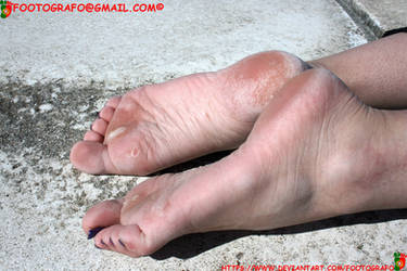 Sunny Barefooter Rough Feet by Footografo