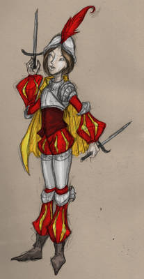 Poofy Sleeves Lady Knight