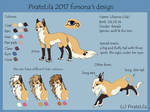 Fursona reference sheet update by PirateLila