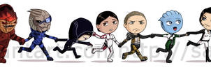 The Mass Effect 1 and 2 gang