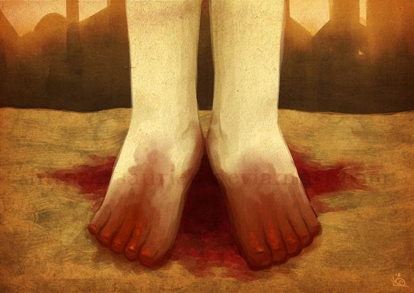 Bloody Feet by saurien