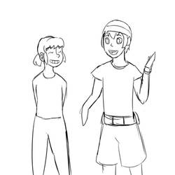 Piper And Jason (sketch wip)