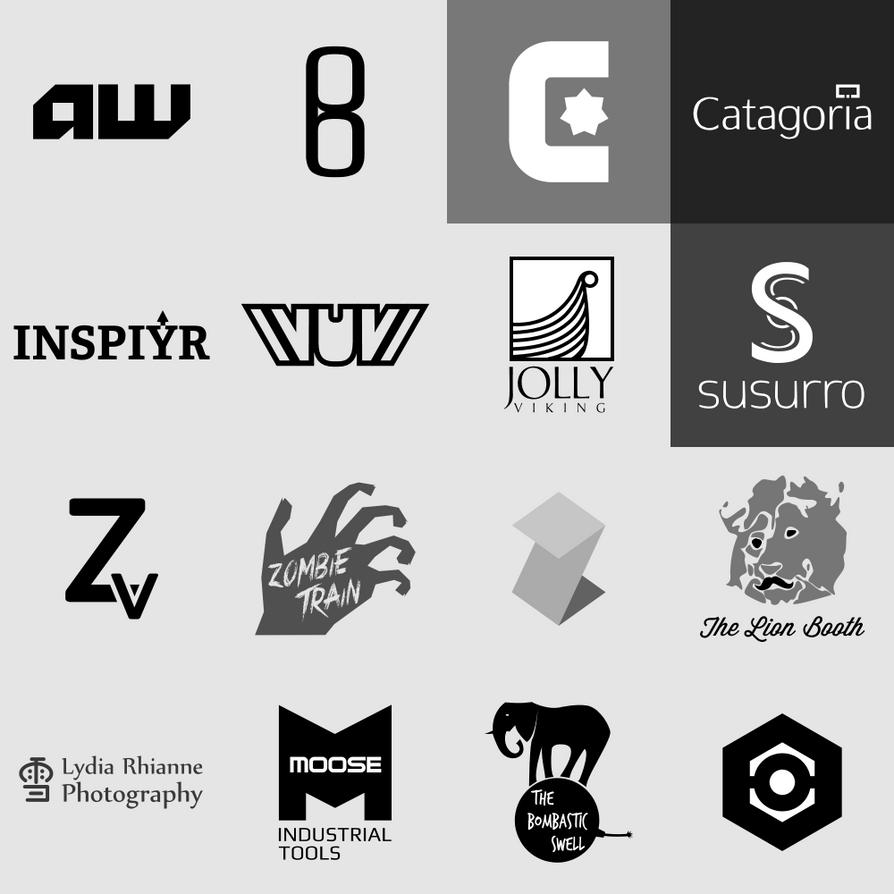 Logo Portfolio 2014 - Monochrome by WintersRead