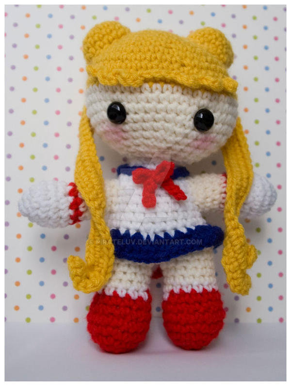 Moon Amigurumi Pattern Free : sailor moon amigurumi 9 inch by pirateluv on DeviantArt