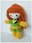 Jean Grey amigurumi doll