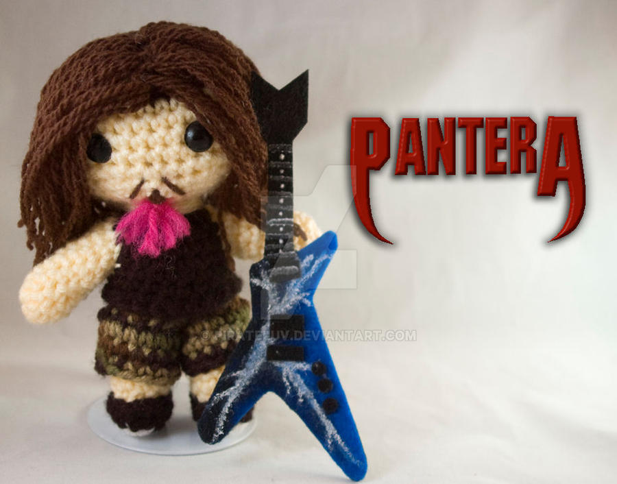 Amigurumi Guitar : Dimebag Pantera custom amigurumi by pirateluv on DeviantArt