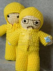 breaking bad yellow suits amigurumi by pirateluv