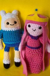 Finn and Princess Bubblegum by pirateluv